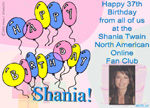 Happy Birthday Shania Animated Card: Music and Images!