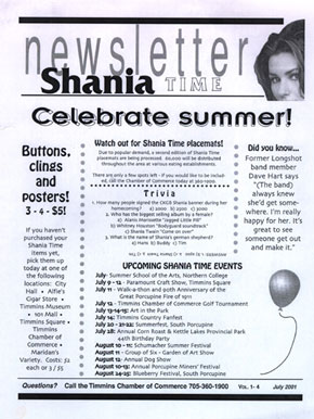 It's Shania Time in Timmins!