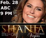Watch Shania LIVE from Las Vegas - Feb. 28!